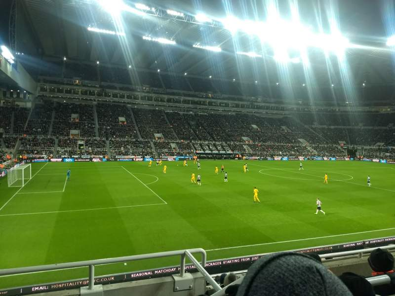 Seating view for St James' Park Section Gallowgate East Row C Seat 5