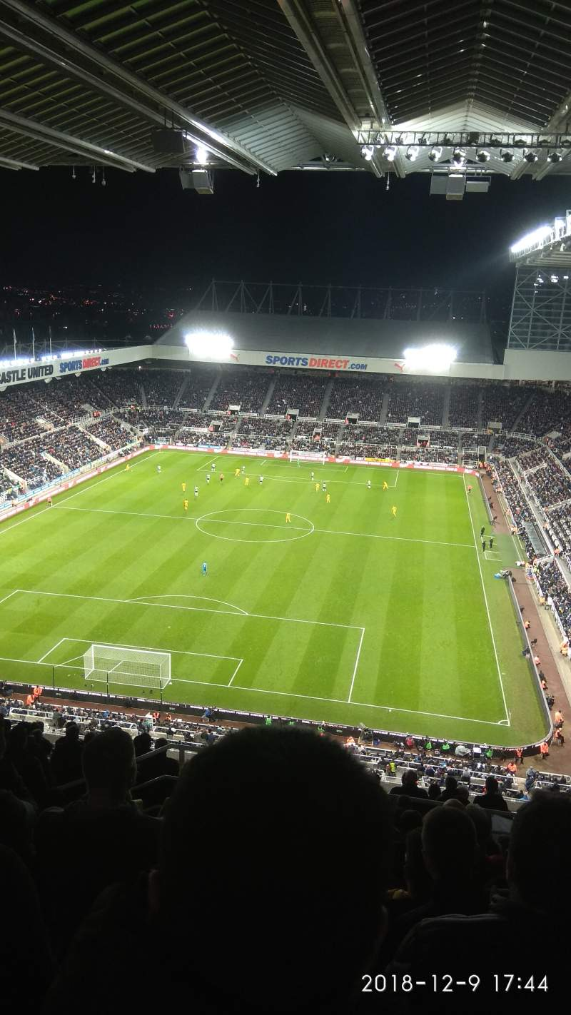 Seating view for St James' Park Section L7H Row P Seat 450