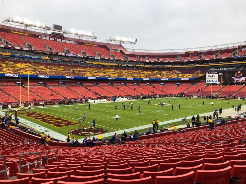 Seating view for FedEx Field Section 127 Row 28 Seat 18