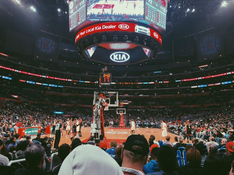 Seating view for Staples Center Section 115 Row J Seat 9