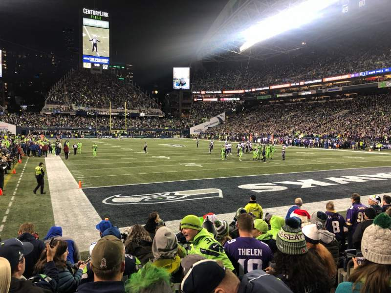 Seating view for CenturyLink Field Section 125 Row G Seat 8