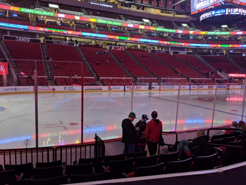 Seating view for PNC Arena Section 107 Row G Seat 6