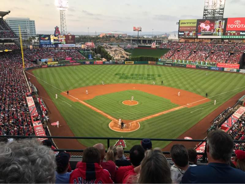 Seating view for Angel Stadium Section V419 Row E Seat 10