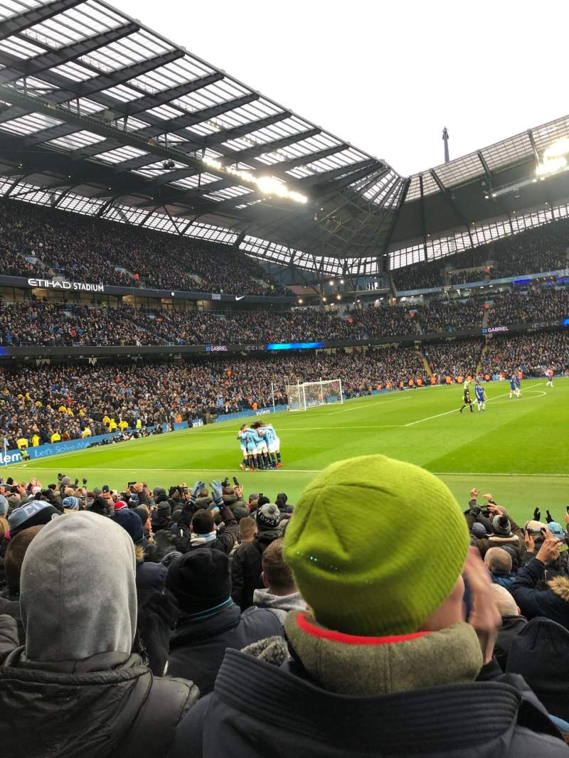 Seating view for Etihad Stadium (Manchester) Section East Stand 107 Row L Seat 162