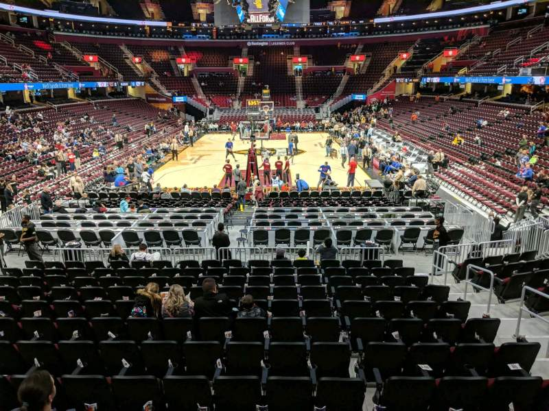 Seating view for Rocket Mortgage FieldHouse Section 114 Row 13 Seat 6
