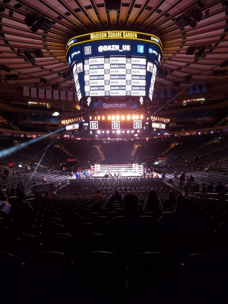 Seating view for Madison Square Garden Section 102 Row 6 Seat 8