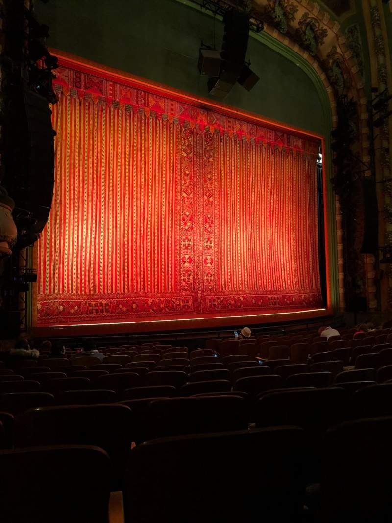 Seating view for New Amsterdam Theatre Section Orchestra L Row N Seat 17/19