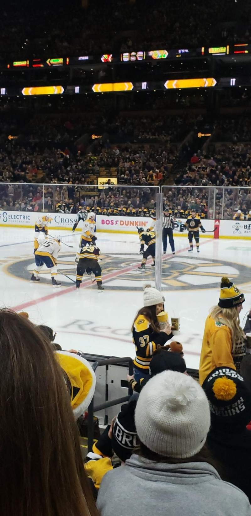 Seating view for TD Garden Section Loge 11 Row 7 Seat 16