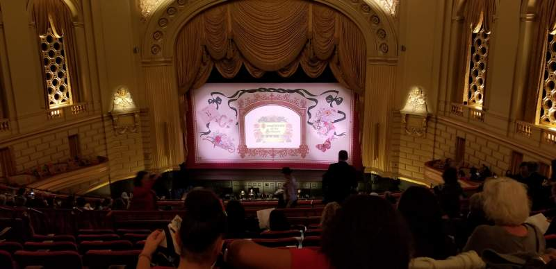 Seating view for War Memorial Opera House Section Dress Circle Row H Seat 114