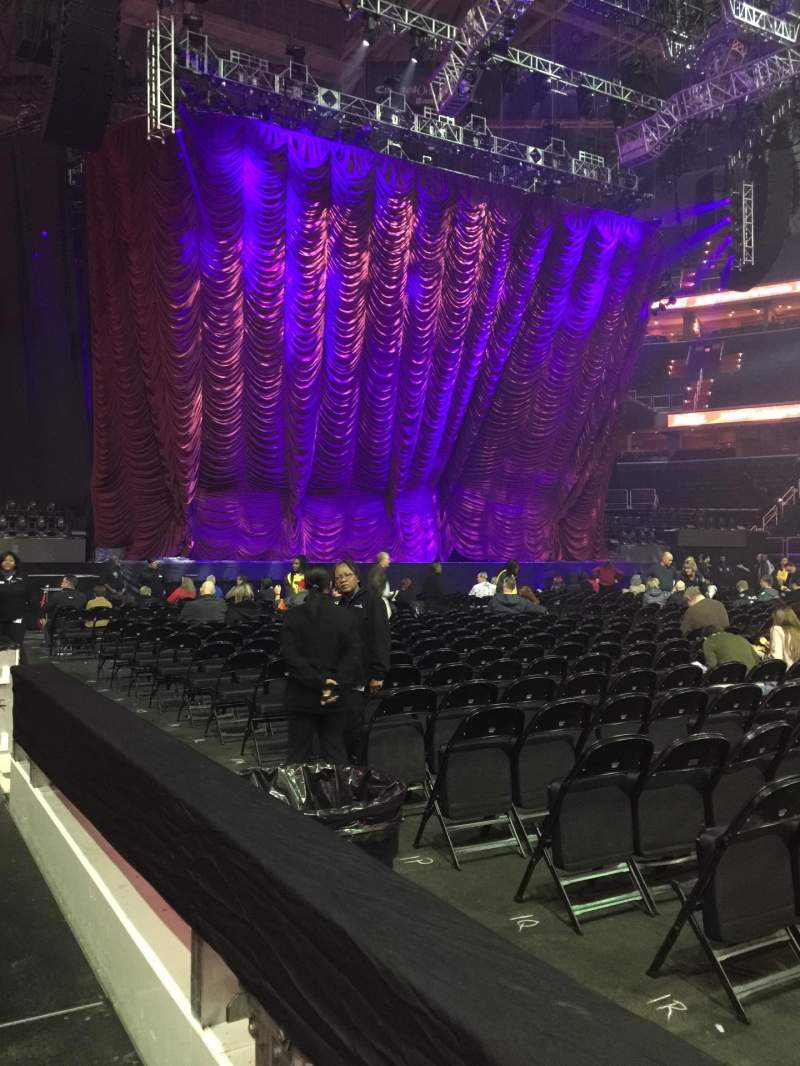 Seating view for Capital One Arena Section 100 Row A Seat 11