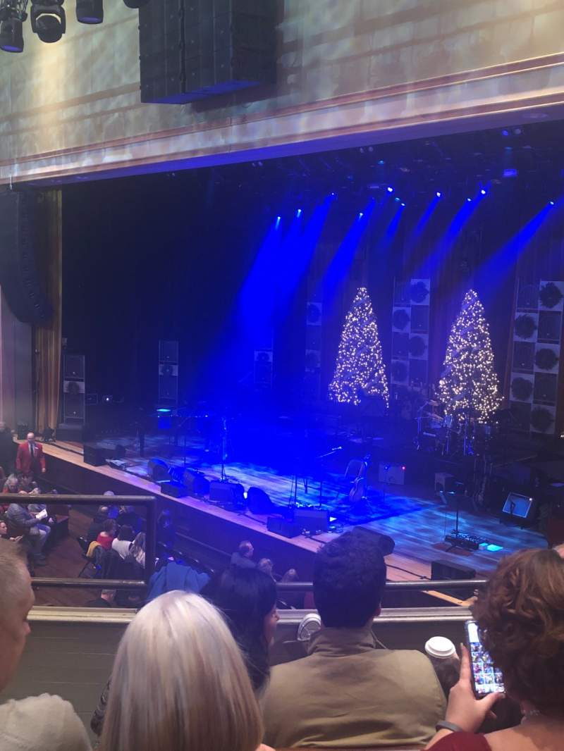 Seating view for Ryman Auditorium Section Bal-10 Row D Seat 7
