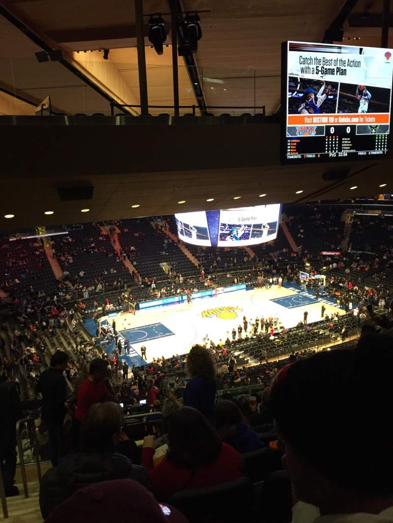 Seating view for Madison Square Garden Section 222 Row 18 Seat 1