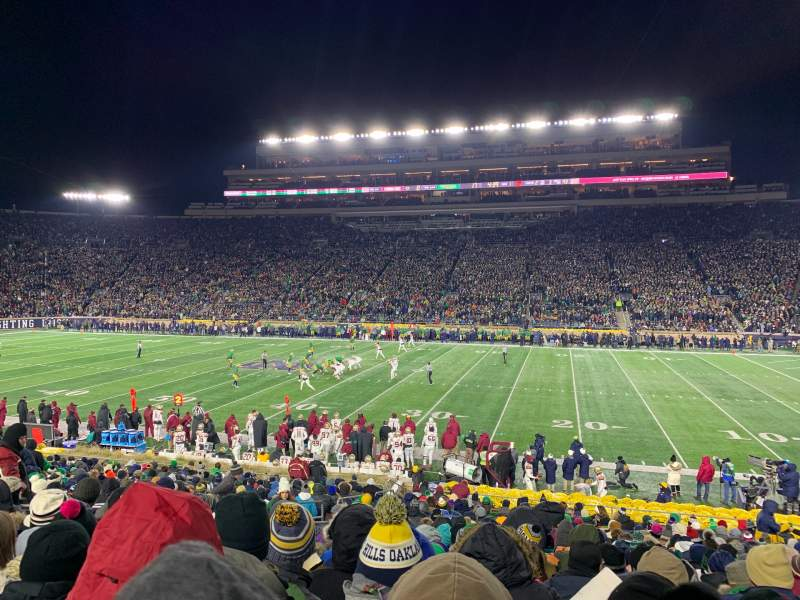 Seating view for Notre Dame Stadium Section 8 Row 33 Seat 15