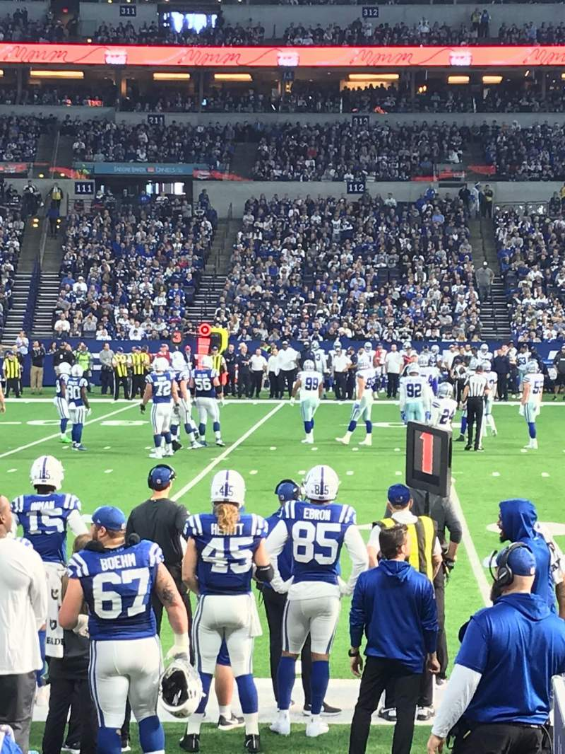 Seating view for Lucas Oil Stadium Section 141 Row 5