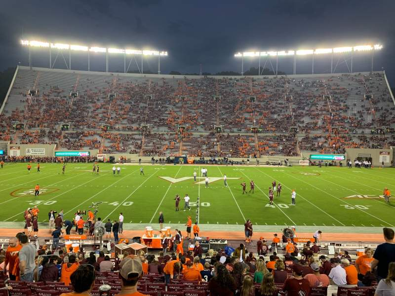 Seating view for Lane Stadium Section 10 Row BB Seat 26