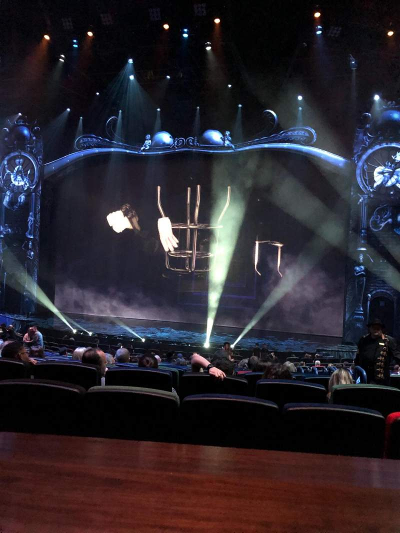 Seating view for Michael Jackson One Theatre Section 204 Row AA Seat 6