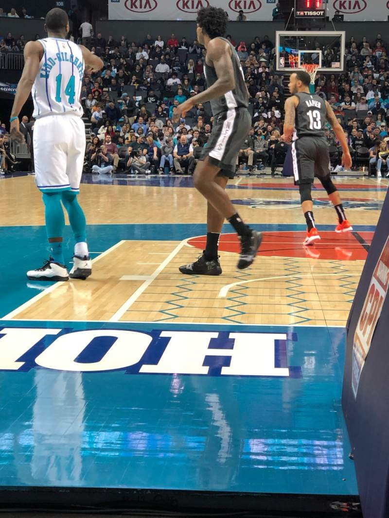 Seating view for Spectrum Center Section 101 Row 2A Seat 1