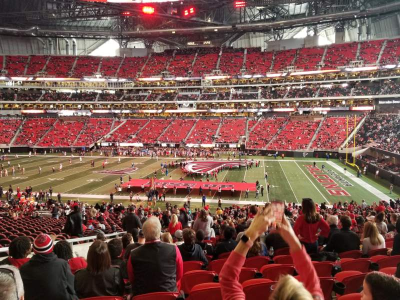 Seating view for Mercedes-Benz Stadium Section 107 Row 41 Seat 26