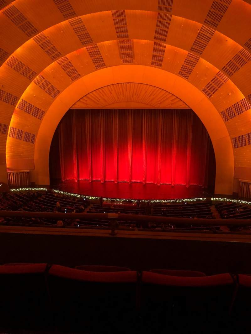 Seating view for Radio City Music Hall Section 2nd mezzanine 3 Row C Seat 316