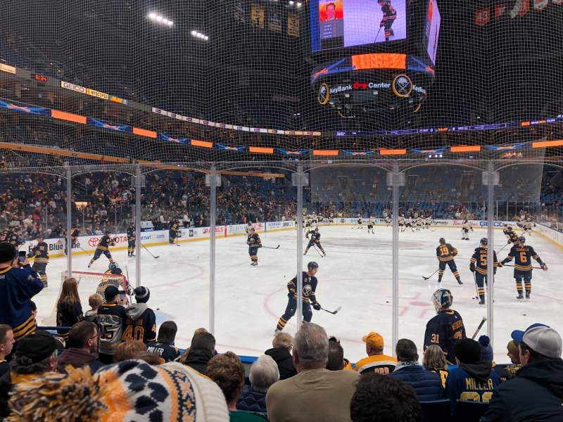 Seating view for KeyBank Center Section 122 Row 7 Seat 15