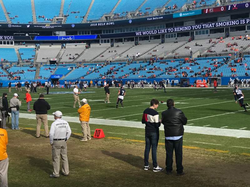 Seating view for Bank of America Stadium Section 127 Row 1a Seat 7
