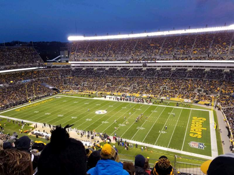 Seating view for Heinz Field Section 538 Row M Seat 5