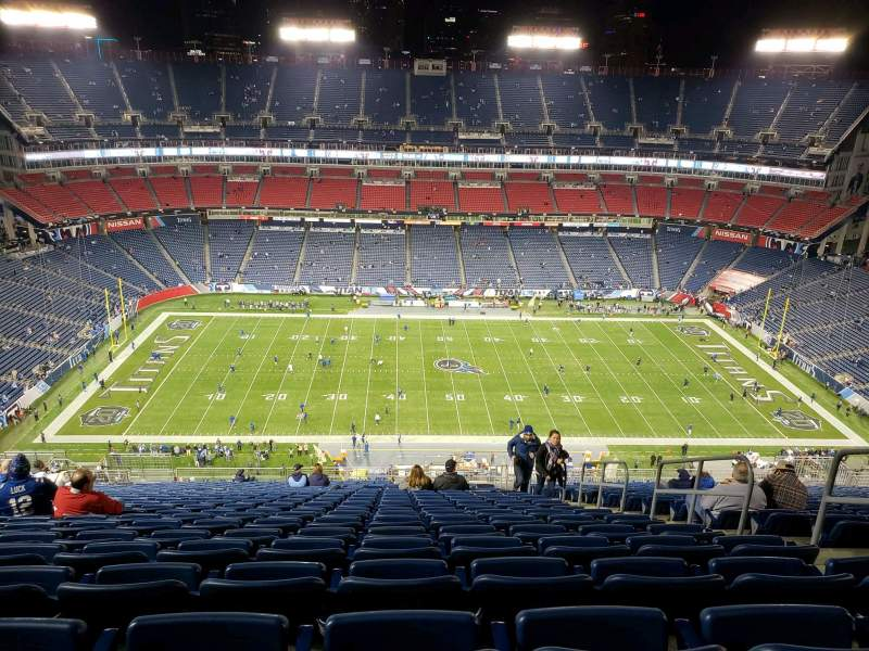 Seating view for Nissan Stadium Section 313 Row FF Seat 5