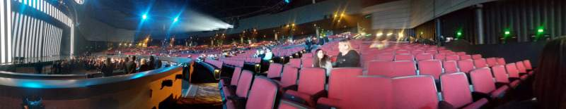Seating view for Zappos Theater Section 105 Row A Seat 5