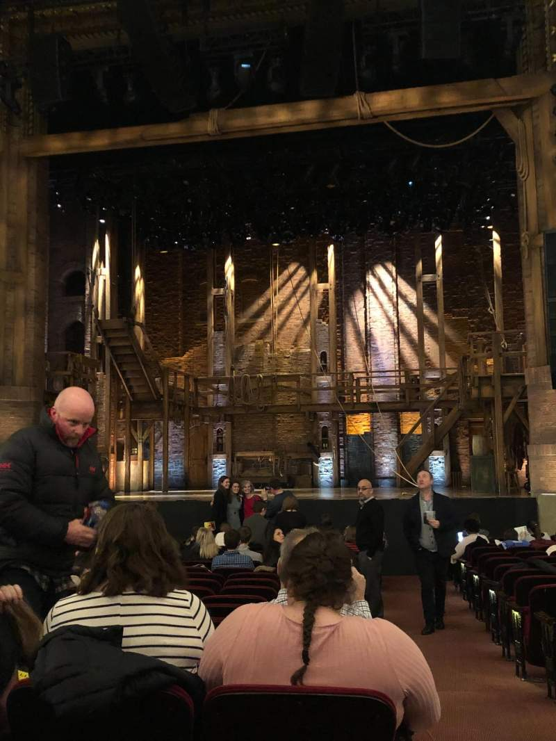 Seating view for CIBC Theatre Section Orchestra C Row T Seat 115