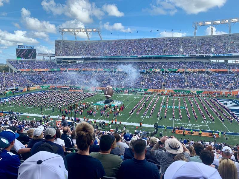 Seating view for Camping World Stadium Section p23 Row M Seat 19
