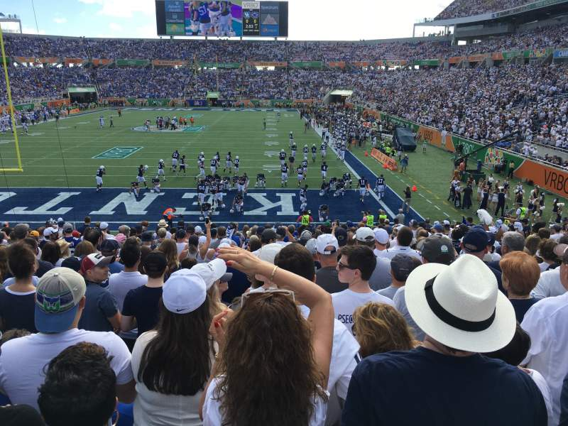 Seating view for Camping World Stadium Section 146 Row Y Seat 13