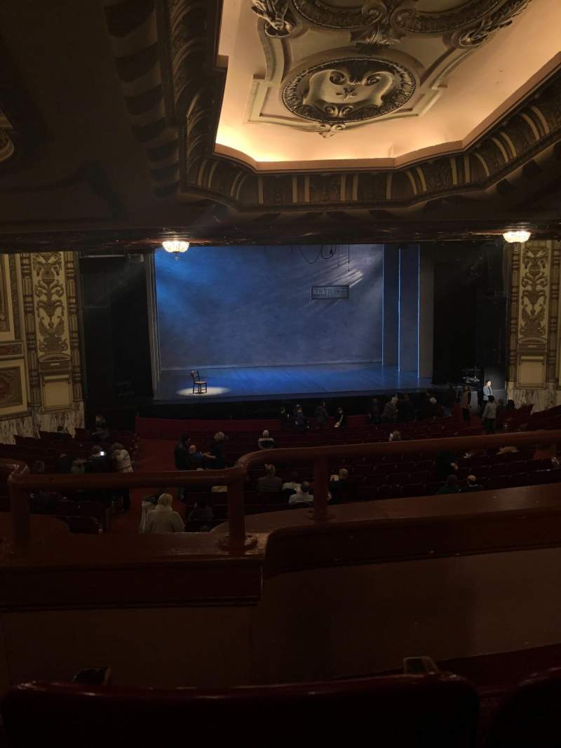 Seating view for Cadillac Palace Theater Section Dress Circle LC Row B Seat 209