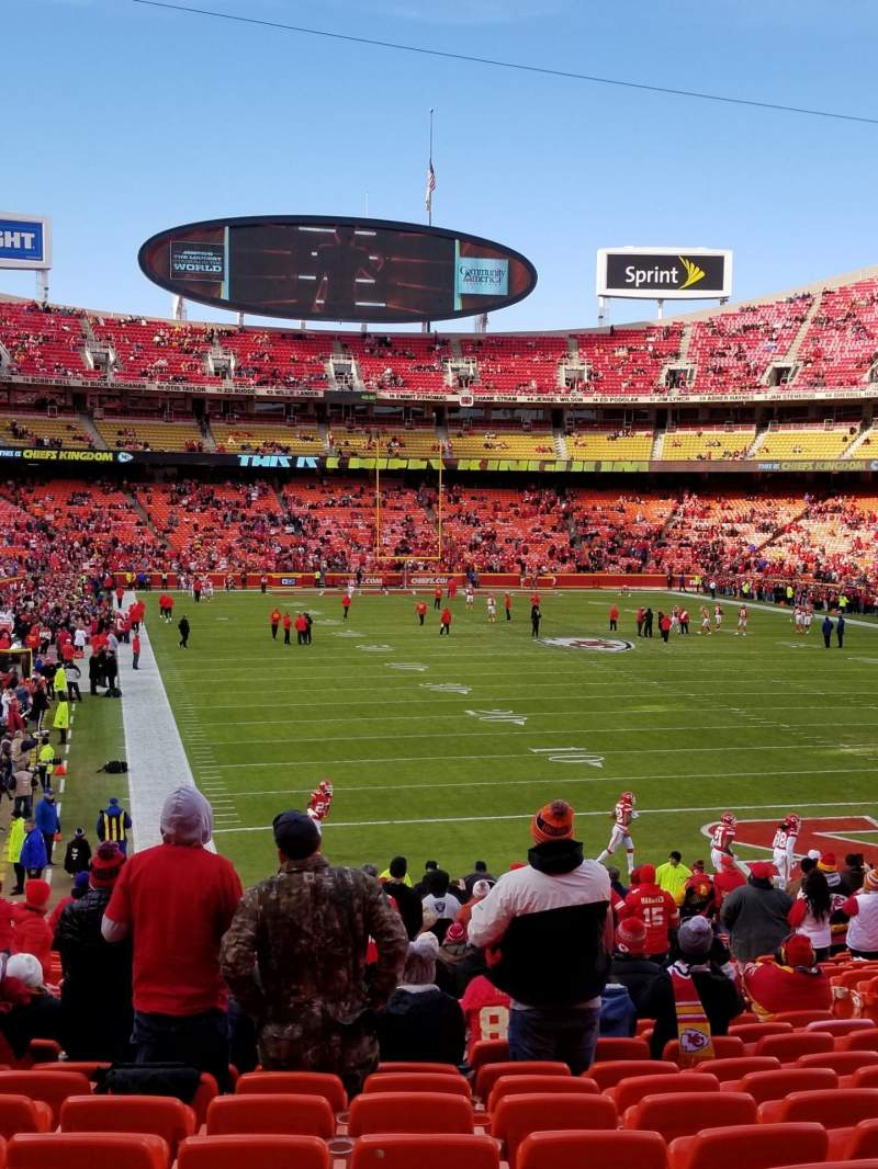 Seating view for Arrowhead Stadium Section 112 Row 29 Seat 6