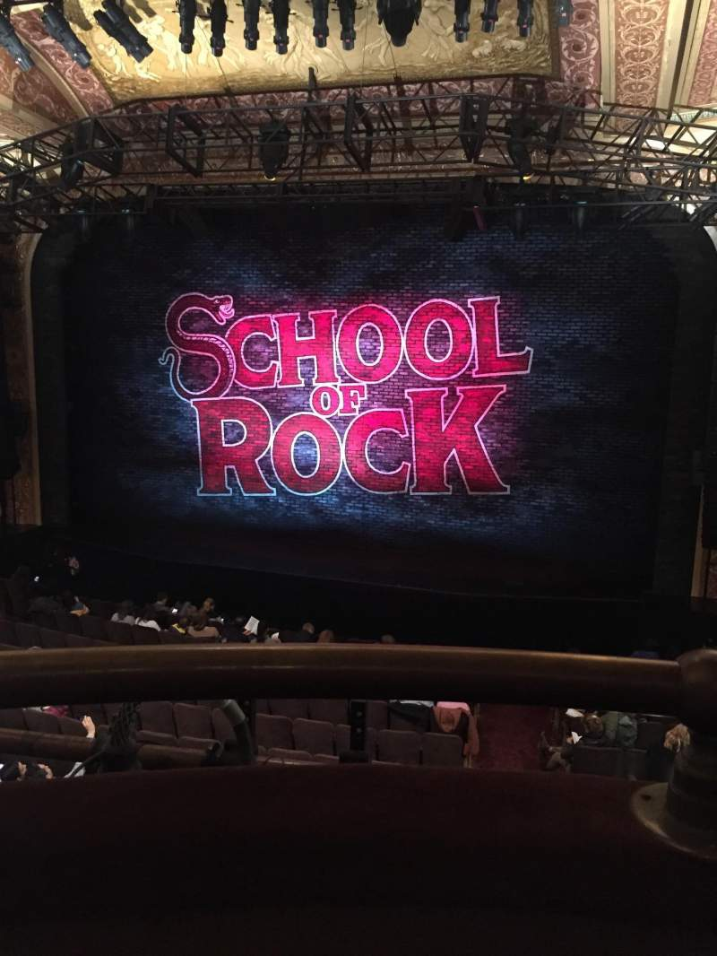 Seating view for Winter Garden Theatre Section Mezzanine RC Row A Seat 132