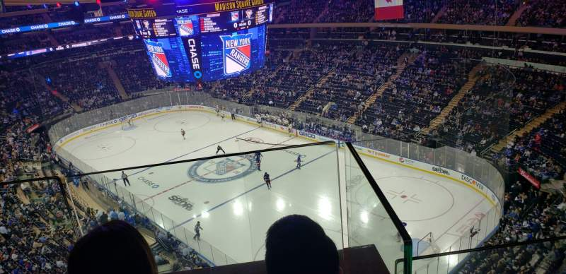 Seating view for Madison Square Garden Section 301 Row 2 Seat 15