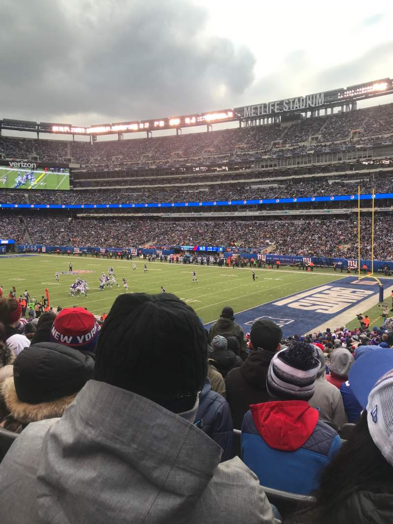 Seating view for MetLife Stadium Section 108 Row 31 Seat 3