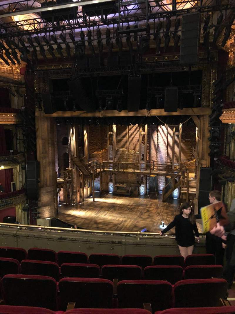 Seating view for CIBC Theatre Section Mezzanine rc Row F Seat 322