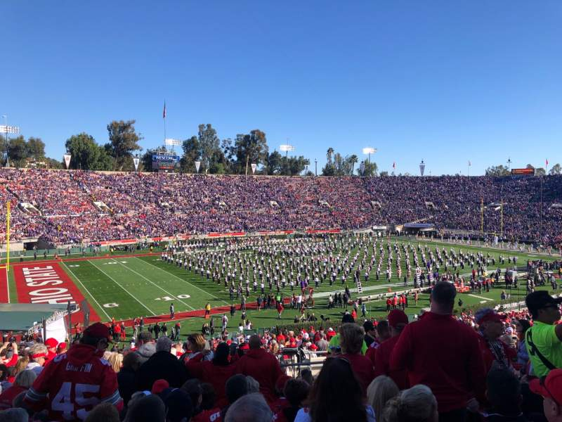 Seating view for Rose Bowl Section 16-L Row 53 Seat 4