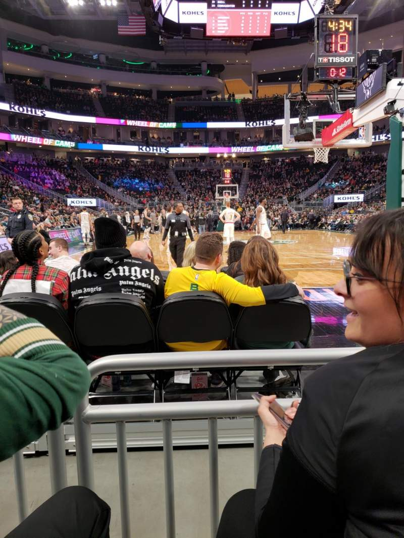 Seating view for Fiserv Forum Section 111 Row 2 Seat 21