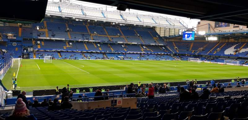 Seating view for Stamford Bridge Section West Stand Lower Row 35 Seat 212