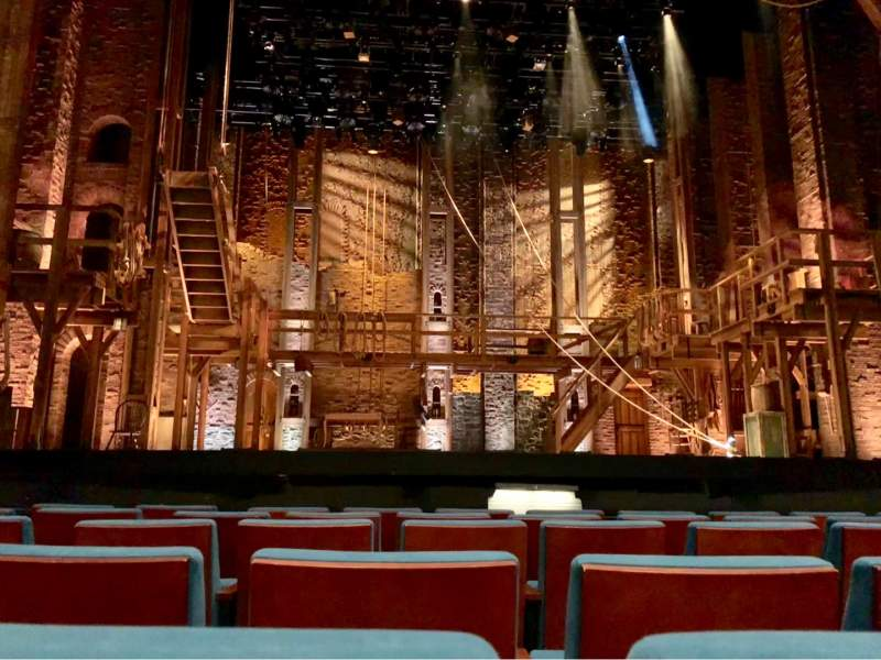 Seating view for Belk Theater Section Orchestra Center Row C Seat 310