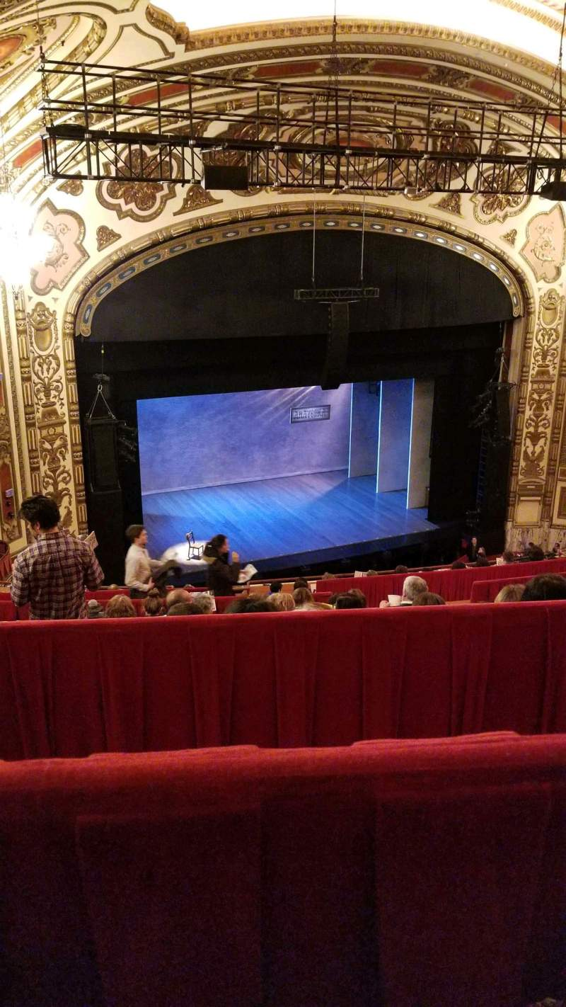 Seating view for Cadillac Palace Theater Section Balcony L Row L Seat 17