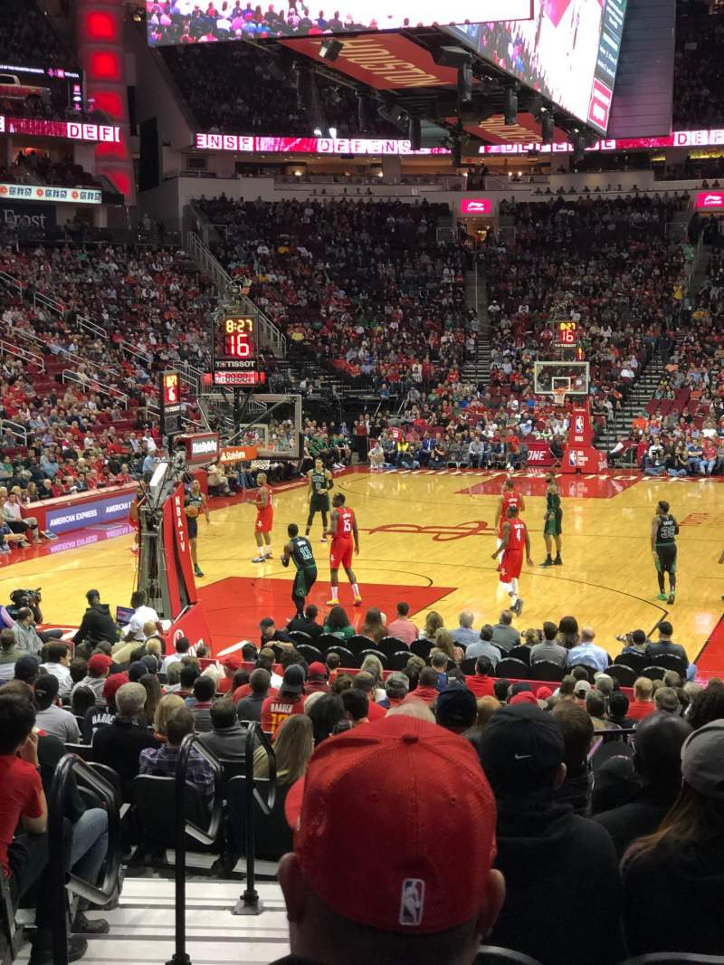 Seating view for Toyota Center Section 112 Row 13 Seat 13