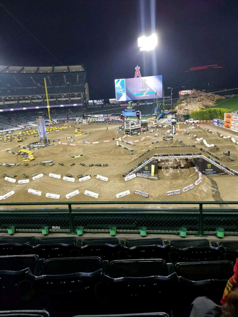 Seating view for Angel Stadium Section 343 Row D Seat 11