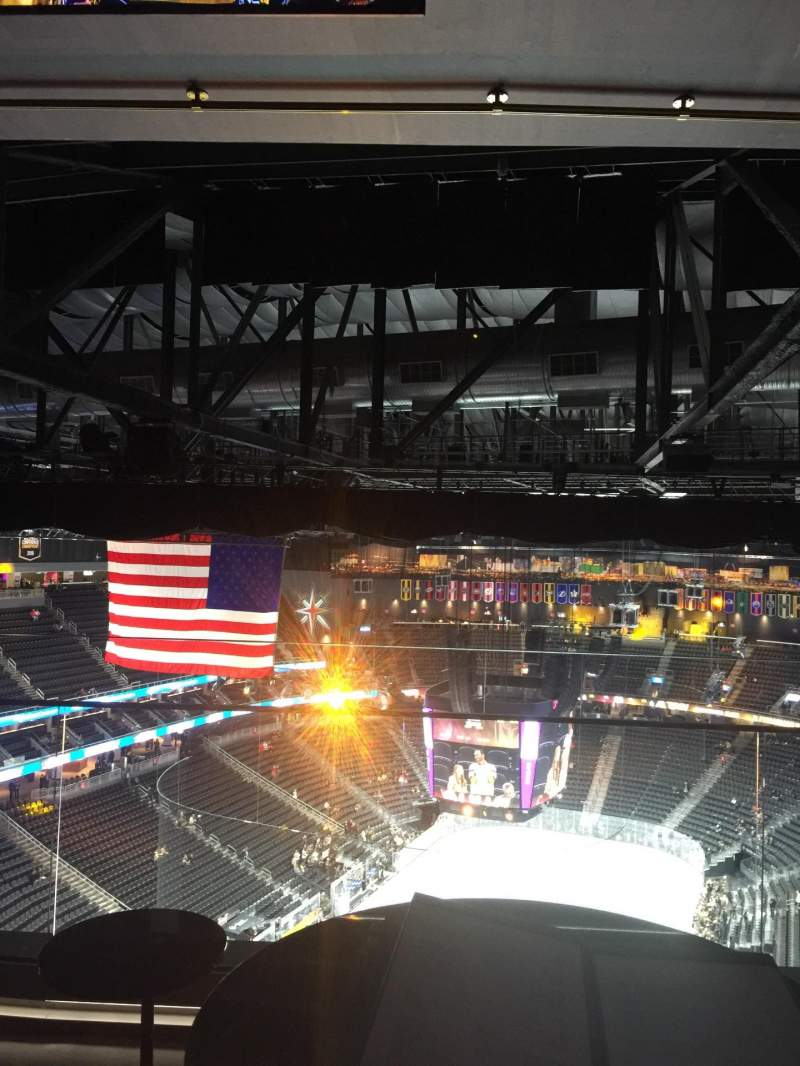 Seating view for T-Mobile Arena Section Hyde table 14 Seat 1,2,3