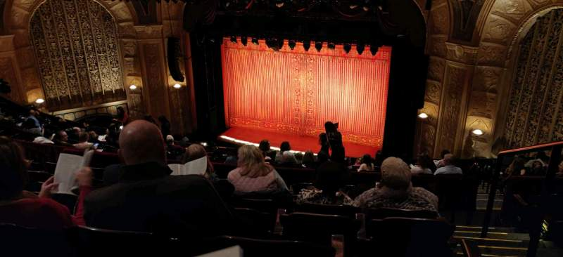 Seating view for Detroit Opera House Section Mezzanine 4 Row G Seat 122