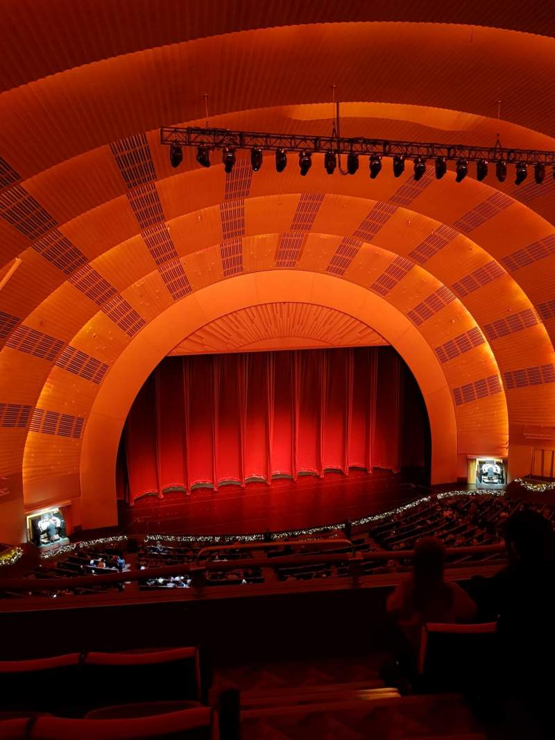 Seating view for Radio City Music Hall Section 3rd Mezzanine 6 Row D Seat 601
