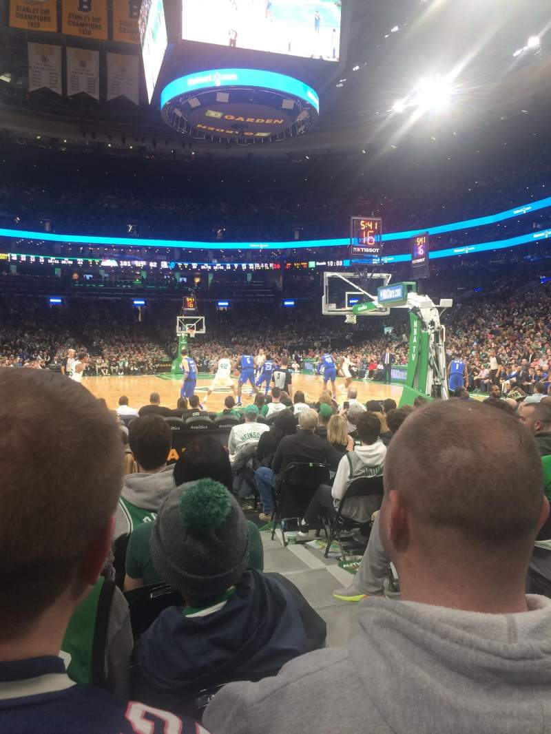 Seating view for TD Garden Section Loge 7 Row L Seat 9