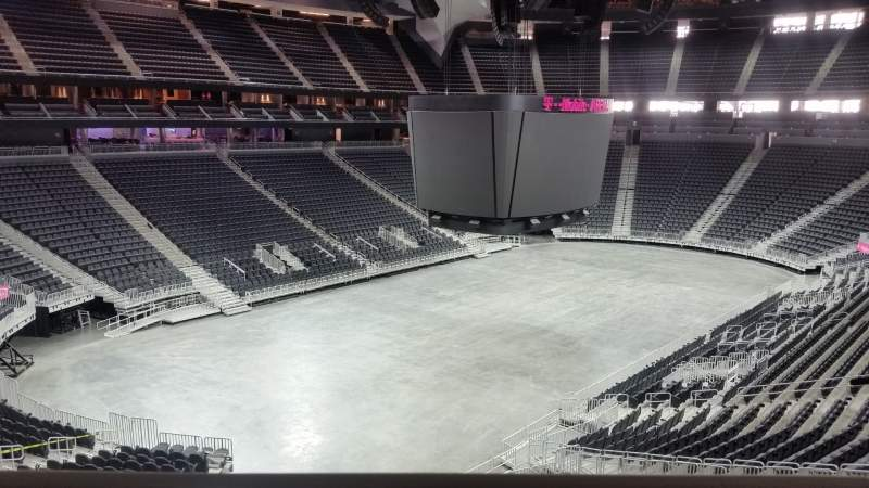Seating view for T-Mobile Arena Section 105 Row a Seat 6 - 7