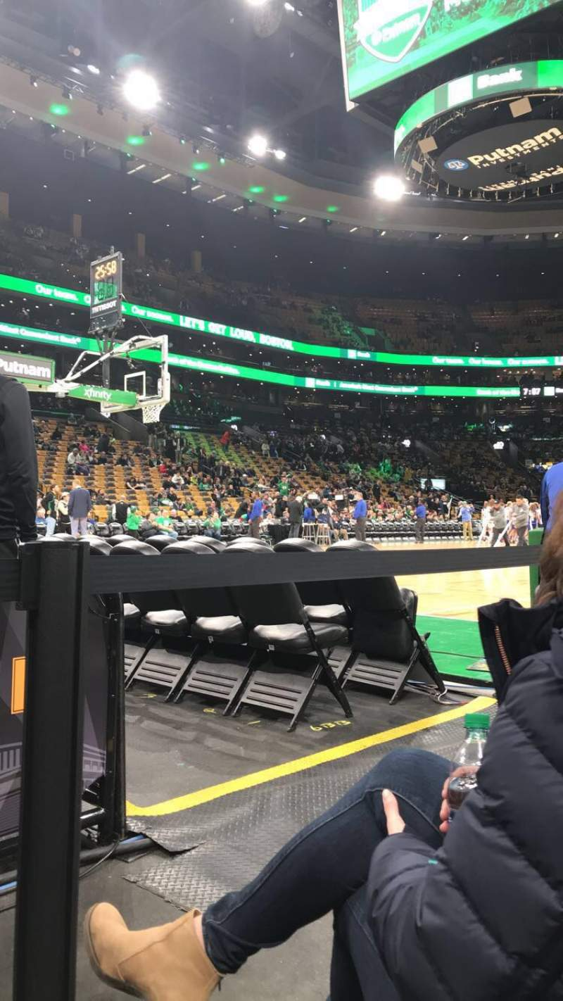 Seating view for TD Garden Section Loge 3 Row B Seat 11
